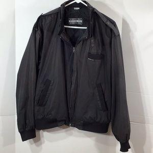 Members Only vintage bomber jacket L